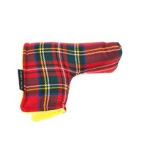 Seamus Golf Red Stewart Tartan Blade Putter Cover