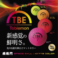 Tobiemon Distance Golf Ball 1 Dozen Florecent Matte Color